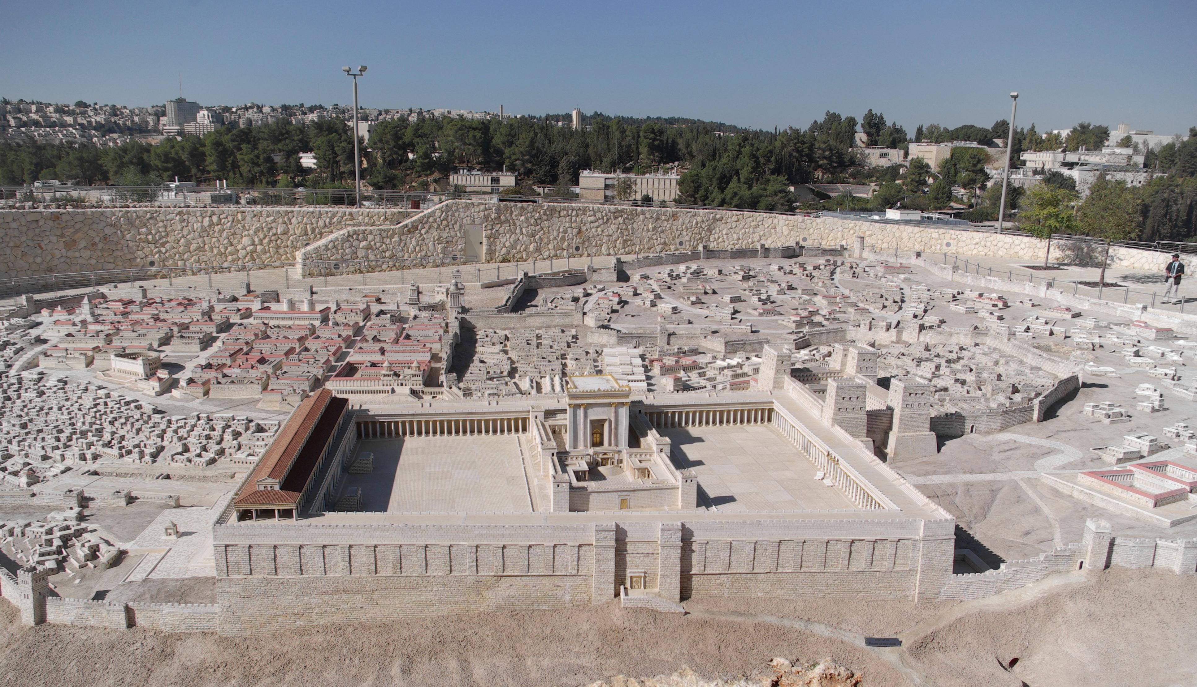 Jérusalem - Second temple, maquette
