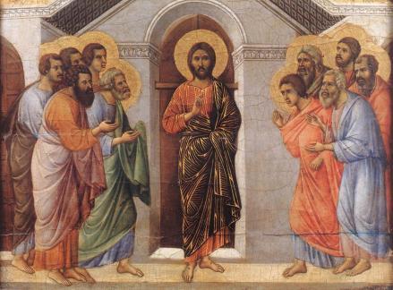 Duccio apparition aux apôtres