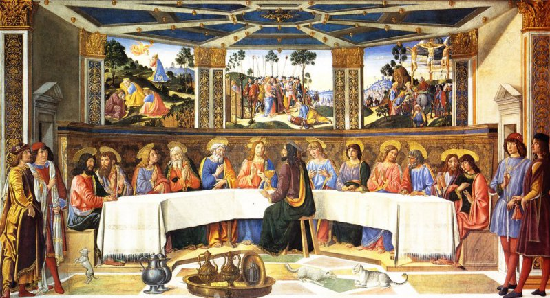 Cosimo ROSSELLI, La Cène, fresque (1481) Chapelle Sixtine