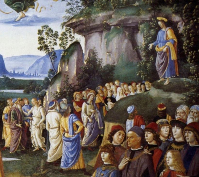 Perugino, Baptême du Christ (détail)