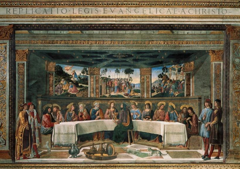 Last Supper. Fresco.