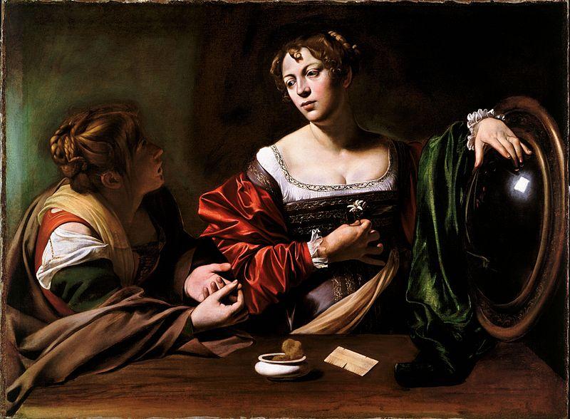 800px-Martha_and_Mary_Magdalene-Caravaggio_(c.1599)