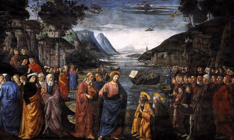 Ghirlandaio, Vocation des premiers apôtres, Chapelle Sixtine, Rome, 1481