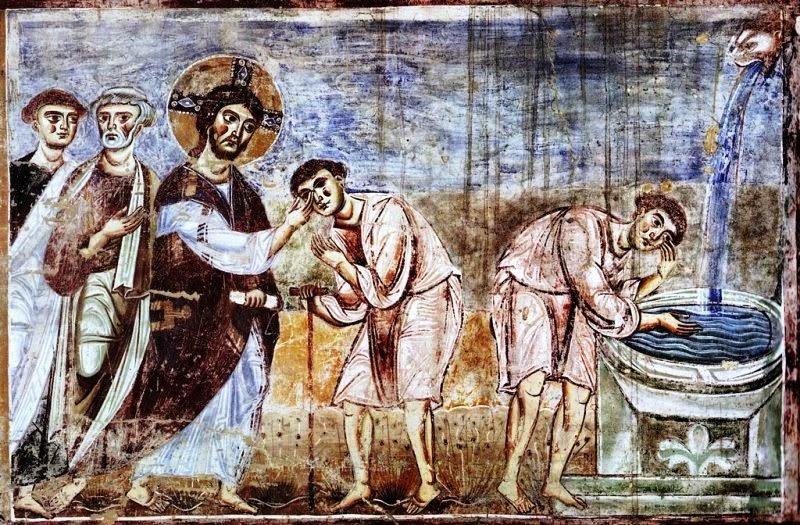 Sant'Angelo in Formis, Cieco nato, 1070