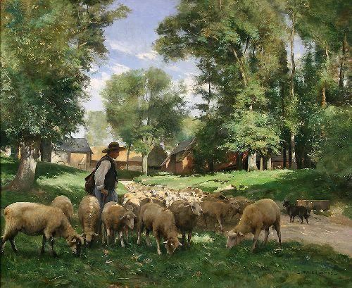 Julien Dupré le berger et son troupeau