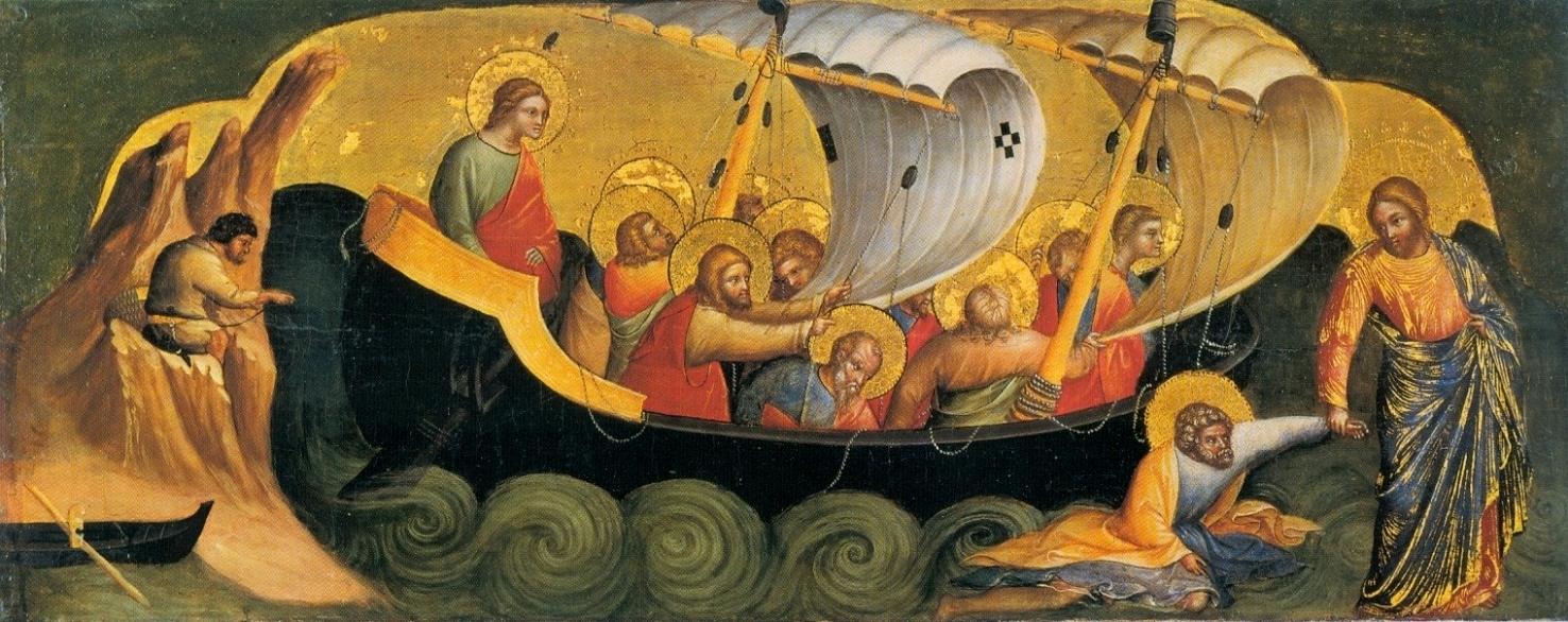 Lorenzo_Veneziano,_Christ_Rescuing_Peter_from_Drowning._1370_Staatliche_Museen,_Berlin.
